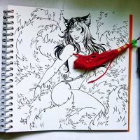 Instaart - Ahri (NSFW on Patreon) by Candra