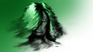 green woman by devilsarm