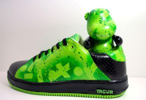 EGB Green Custom Toy and Shoe by Morbid84