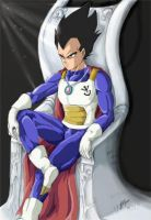 King, Prince Vegeta by devils-courtesan