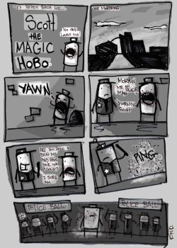 Scott the Magic Hobo. by suicidal-cow