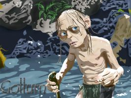 Gollum from Lord of the Rings by budcali