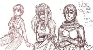 Russia and Sisters - Iscribble by AccursedAsche