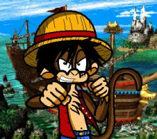 LUFFY As a DK Character by conkeronine