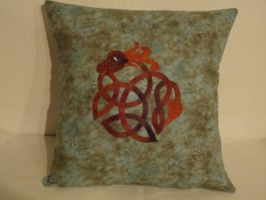 Celtic Dragon Pillow by KnottyCovers