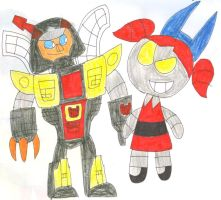 Omega Supreme and Dynamo by SithVampireMaster27