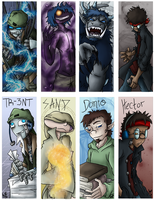Narcissistic Bookmarks by HosekiDragon