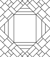 Coloring Book- Triangle, Squares, and Lines 001 by Midniteoil-Burning