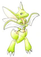 Scyther by ShrubSparrow