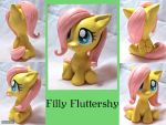 Filly Fluttershy by CadmiumCrab
