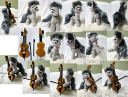 Full-posable medium Octavia with Cello by Rens-twin