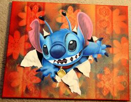 Canvas of Stitch by julydart