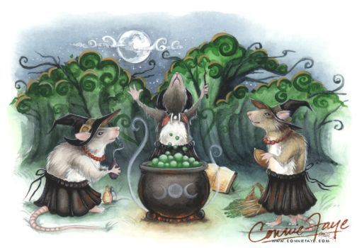 Three Wee Witches  by ConnieFaye by ConnieFaye