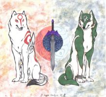 Okami_LoZ Faaannarts. by ShiftingStarlight
