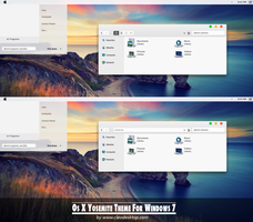 Os X Yosemite theme for Windows 7 by Cleodesktop