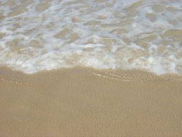 Ocean Wash on Sand by LilipilySpirit