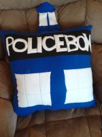 Police Box Pillow by RedAlaina