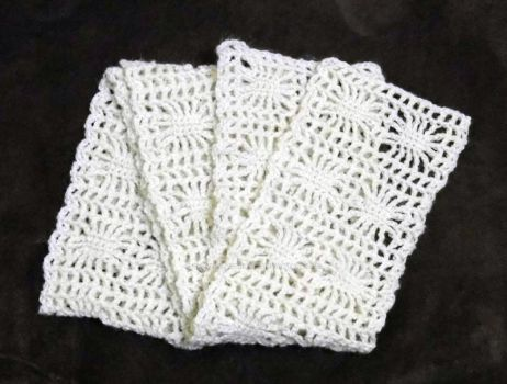 Crochet Alpaca Natural Webs Scarf by RedVelvetsCrafts