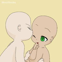 Chibi kiss base by MeryHenka