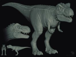 T. Rex sculpt by sash4all