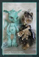 Singe the Dragon and Hoot by TheMushroomPeddler