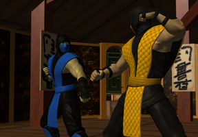 Scorpion Taunts Sub-zero by icemember