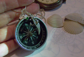 Emerald Compass Pendant by mymysticgems