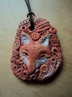red fox pendant by Ermelyn