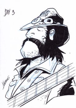 Inktober3: Lemmy by NachoMon