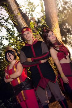 Toph, Katara and Aang [Avatar, The last Airbender] by kokoammm