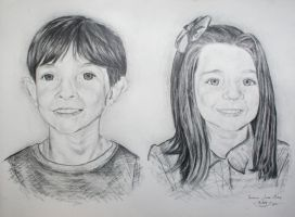 Two portraits by vero307