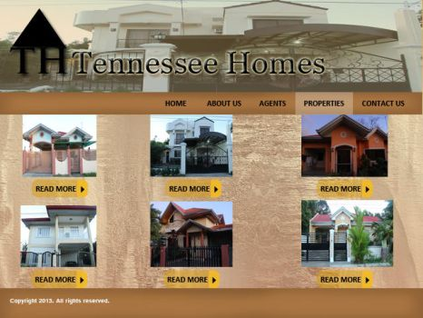 Sample Website Design- Tennessee Homes by bearypink
