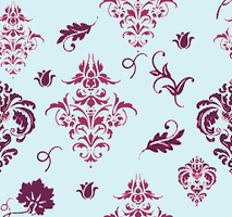Seamless Damask Pattern Magenta by Mynimi94