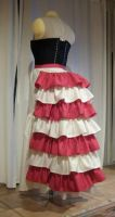 Pink Victorian Bustle Back by volatilevisions