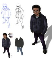 Colored Character Progress by San9afis