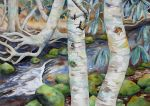 Two Birches by applecorekevin