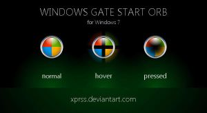 windows gate Start orb - for Windows 7 by XprSS