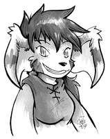 Ink Portrait Rhea by raizy