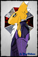 Renamon as Jill Valentine (RE: Retribution suit) by YuseiCrimsonKnightX