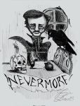 Edgar Allen Poe Commission by MissJamieBrown