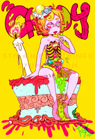 too much candy's gonna rot your soul by MikachuKuro