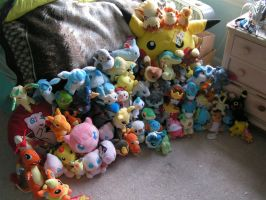 My Pokemon Plushie Collection by doryphish333