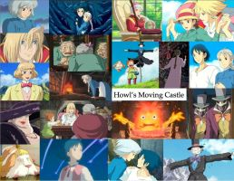 Howl's Moving Castle collage by JackieStarSister