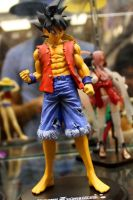 Goku in Luffy's Outfit by Samie661