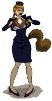 TF STEWARDESS TRANSFORMING INTO SQUIRREL 1 by FurSystem