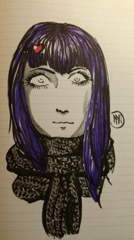 Purple Haired Girl by MaliciousNature