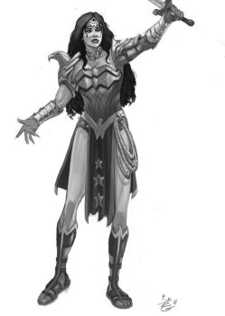 Wonder Woman Redesign for New 52 by irongiant775
