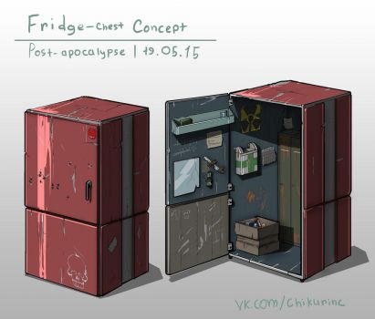 Post-apocalypse chest concept by DonTranes