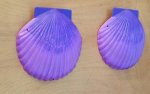 Purple Shell Bra by littlebitakit