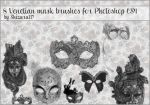 8 Venetian mask brushes by Shizuru117